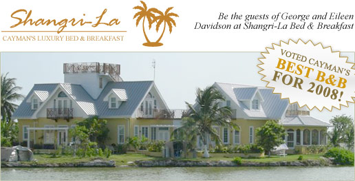 Shangri-la Bed & Breakfast, voted Cayman's best for 2006